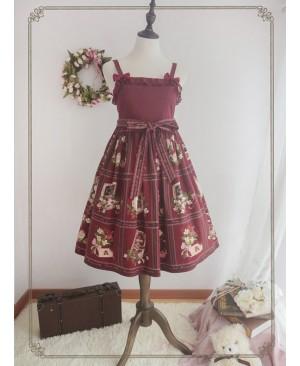 Fashion The Strawberry Garden's The Morning Music  Series Sweet Lolita Sling Dress