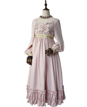 Emma Series Retro Elegant Classic Lolita Long Sleeve Long Dress