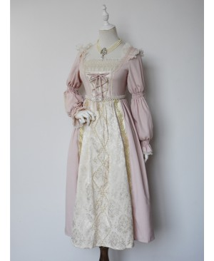 Lucrezia Series Retro Classic Lolita Long Sleeve Long Dress