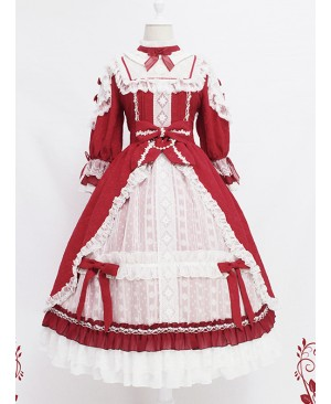 Sleeping Teresa Series Wedding Dress Classic Lolita Half Sleeve Dress