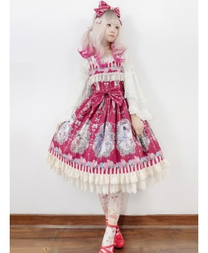Flower Elf Series JSK Classic Lolita Dress Sling Dress