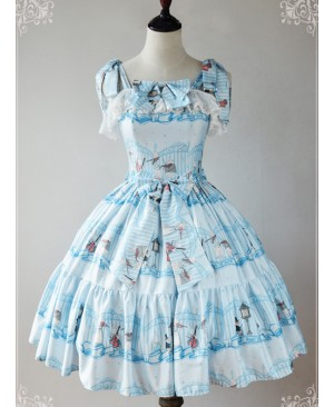 Magic Tea Party Wonderland Quartet Series JSK Sweet Lolita Sleeveless Dress