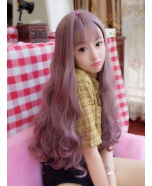 Fluffy Large Wave Taro Purple Long Curly Hair Lolita Wig