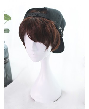 Rose And Flower Thorn Series Brown Short Wavy Hair Lolita Wigs