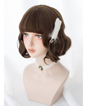 Brown Cute Short Curly Hair Classic Lolita Wigs