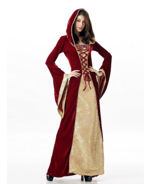 Dark Khaki Color Queen Alice Halloween Dress