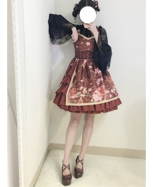 Gules Japanese Wind Soft Sister Bathrobe Cute Cheap Lolita Suspender Dress