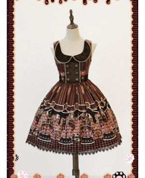 Brown Round Collar Chocolate Carousel Infanta Dress