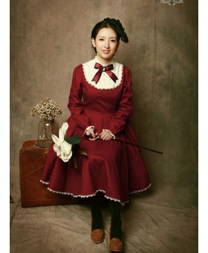 Miss Point The Castle Girl Vintage Classic Lolita OP Dress