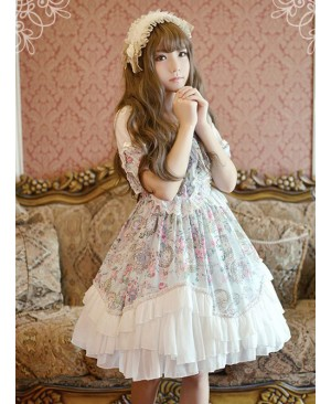 Neverland Lolita Antique Clock Sweet Lolita Puff Sleeves OP Dress