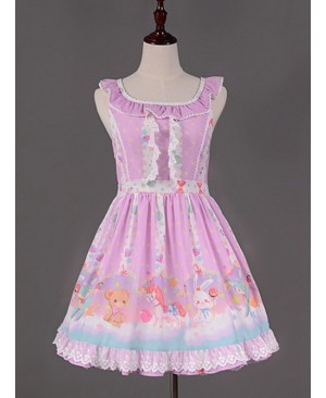 Flouncey Collar Candy Land Printed Lolita JSK