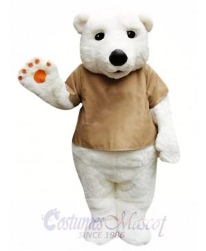 Cute Polar Bear Mascot Costume