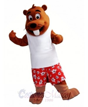 Happy Beaver Mascot Costume