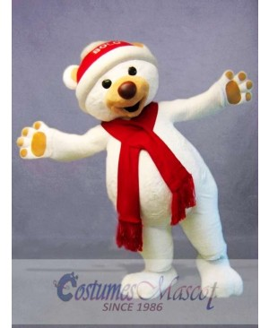 Christmas Polar Bear Mascot Costume
