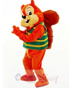 Orange Cute Squirrel Mascot Costume