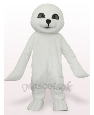 Lovely White Seal Plush Adult Mascot Costume