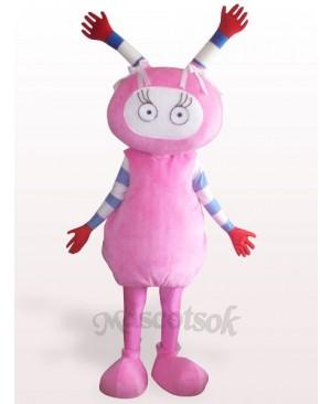 Pink Fairy Plush Adult Mascot Costume