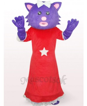 Red Female Xingxing Bear Plush Adult Mascot Costume