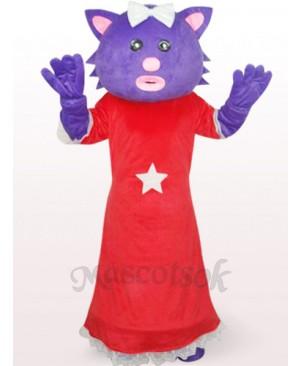 Red Female Xingxing Bear Plush Adult Mascot Costume