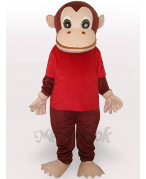 Red Gorilla Adult Mascot Funny Costume