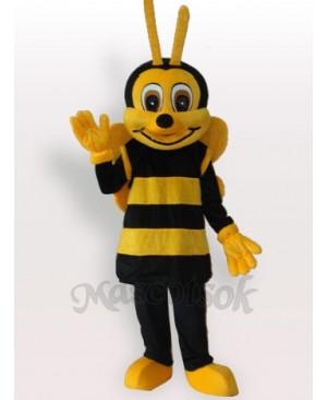 Yellow Black Bee Short Plush Adult Mascot Funny Costume