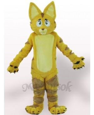 Yellow Cat Plush Adult Mascot Costume