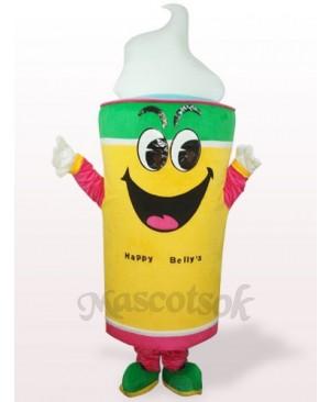 Yellow Ice Cream Plush Adult Mascot Costume