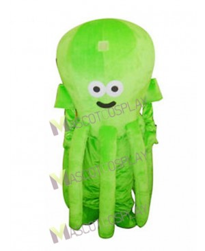 Cute Green Octopus Mascot Costume