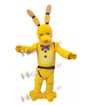 High Quality FNAF Five Nights At Freddy's Spring Bonnie the Bunny Yellow Golden Bonnie Mascot Costume