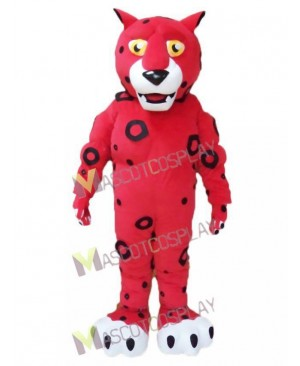 Cute Red Leopard Mascot Costume