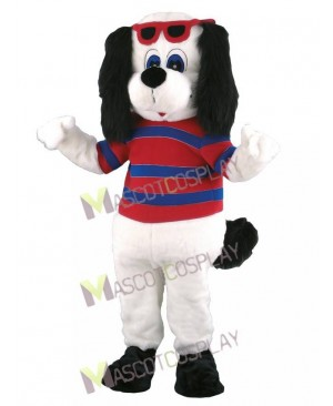 Dog with Big Black Ears Mascot Costume