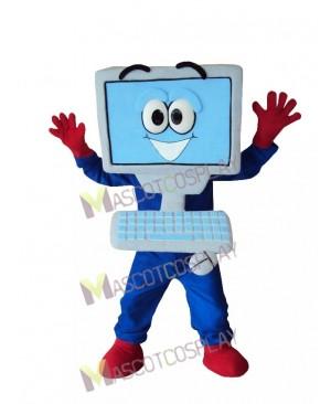 Blue Computer Mascot Costume
