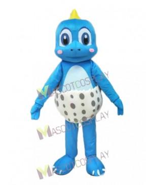 Blue Little Dinosaur Mascot Costume Pink Funny Dinosaur Egg
