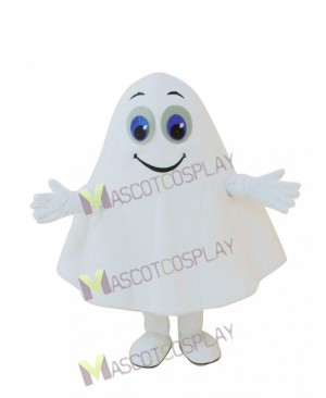 New White Ghost Halloween Party Mascot Costume
