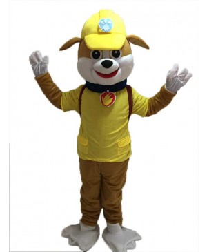 Paw Patrol Rubble Mascot Costume Yellow Dog Halloween Costume