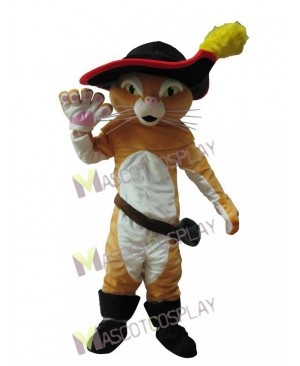 Cute Puss In Boots Pussy Cat Mascot Costume