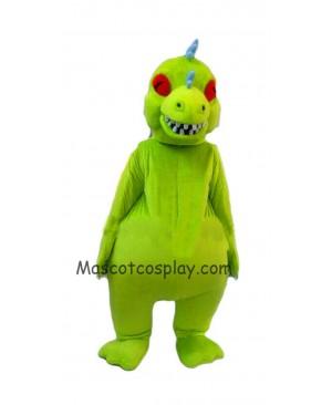 Hot Sale Adorable Realistic New Popular Professional Rugrats Reptar Mascot Costume Reptar Dinosaur Costume Reptar Adults Clothing Halloween