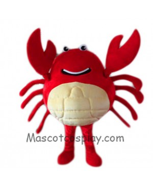 Hot Sale Adorable Realistic New Popular Professional Red Crab Mascot Costume Cartoon Fancy Dress