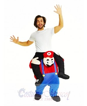 Piggyback Super Mario Bros Carry Me Ride Mario Mascot Costume