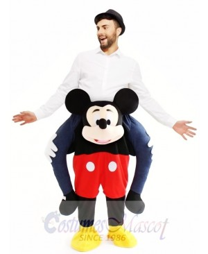 Piggyback Mickey Mouse Carry Me Ride Mouse Mascot Costume