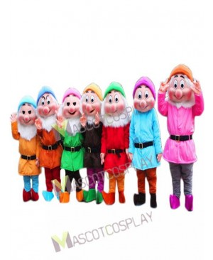 High Quality Seven Dwarfs Mascot Costume from the Snow White