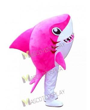 Pink Whale Shark Mascot Costume