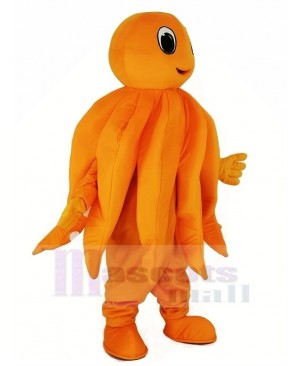 Orange Octopus Plush Adult Mascot Costume