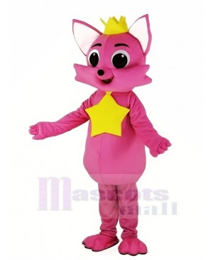 Pink Fox Pinkfong Mascot Costume Animal