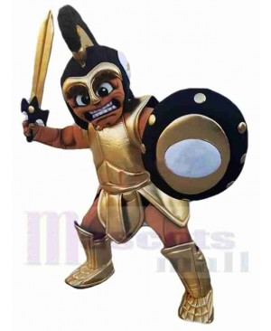 Black Spartan Warrior Mascot Costume