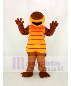 High Quality Adult Orange Billy Salamander Mascot Costume Animal