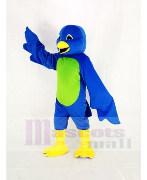 Blue Bird with Green Belly Mascot Costume Animal