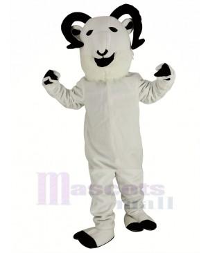 New White Sheep Big Horned Mascot Costume Animal