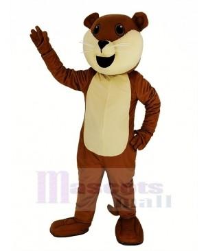 Brown Ollie Otter Mascot Costume Animal