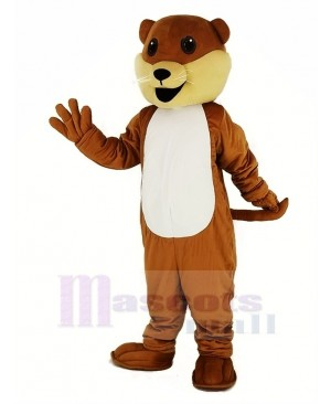 Ollie Otter with White Belly Mascot Costume Animal